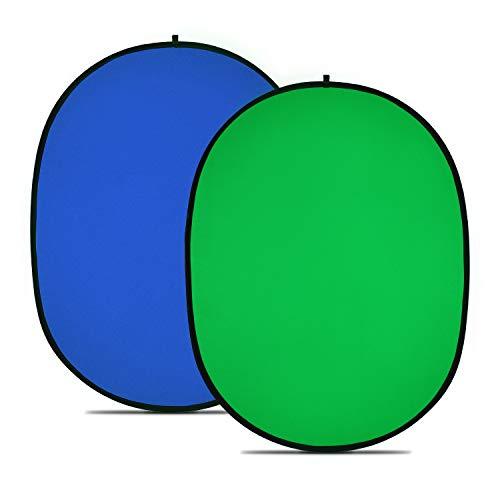 Neewer Chromakey Grün Chromakey Blau Zusammenklappbar Hintergrund Zusammenklappbar Reversibel Hintergrund 150x200CM ChromaKey Blau Grün