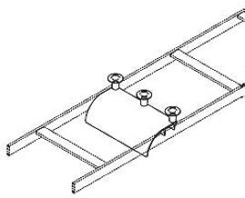 12100-712 - Chatsworth Cable Runway Radius Drop Cross Member 11W