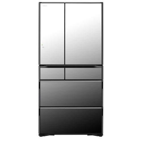 日立 735L 6ドア冷蔵庫(クリスタルミラー)HITACHI WXシリーズ R-WX74K-X
