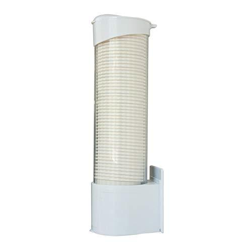LQKYWNA Dispensador de Vasos Montado en la Pared, Transparente a Prueba de Polvo de Gran Capacidad Soporte para Vasos de Plástico y Papel de 7,5 cm 70 para Casa Hotel Oficina