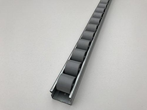 Röllchenleiste Röllchenschiene mit Kunststoffröllchen Ø 28 mm (Länge: 2 m)