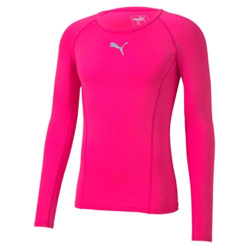 PUMA Liga Baselayer tee LS Camiseta de Manga Larga, Hombre, Rosa Fluorescente, Medium