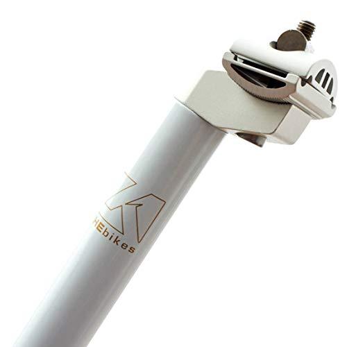 KHE MTB Fixie Kinderrad Patent-Sattelstange 330mm 27,2mm nur 322g weiß - P2 74-1