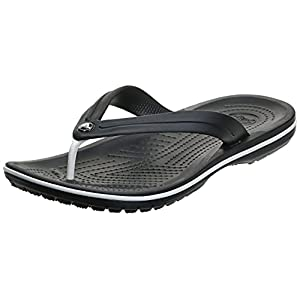 Crocs Unisex-Adult Men's and Women's Crocband Flip Flops Sandals, Black, 10