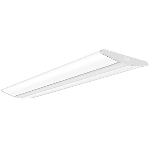 AntLux 72W 4FT LED Wraparound Office Light Ultra Slim, 8000 Lumens, LED Garage Lights Flush Mount, 4000K, No Glare, 4 Foot Wrap Shop Ceiling Lighting Fixtures, Fluorescent Light Replacement