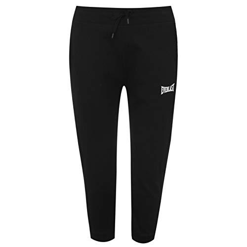 Everlast Mujer Pantalones Deportivos 3/4 para Correr Negro 38 (S)