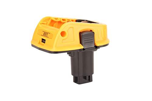 Adattatore batteria 18V DCA1820 per la sostituzione di utensili Dewalt 20V, conversione Compatibile con batterie al litio compatte Dewalt 20V MAX a 18V NiCad & NiMh DC9096 Batteria (5V 2ah USB)