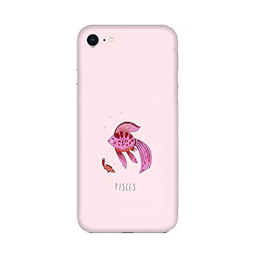 Funda iPhone 6 Carcasa Compatible con Apple iPhone 6 Signos del Zodiaco Peces/TPU Suave Gel de Silicona/Teléfono Hard Snap en Antideslizante Antideslizante Anti-rasguño Resistente a los Golpes T