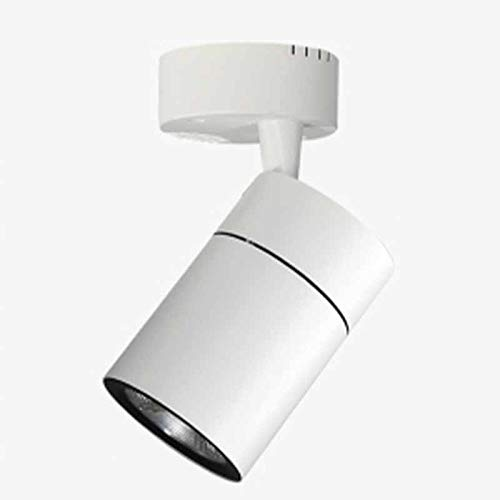 Cnlololog Spotlight Montado de la Superficie LED Comercial Super Brillante Spotlight Showroom Tienda de Ropa Sola lámpara Tienda Fondo Pared Super Brillante Techo Conector Pista