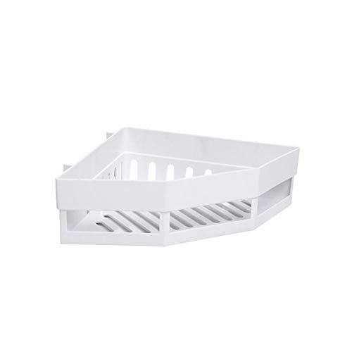 Opslagrek - De onderkant van het holle ontwerp is eenvoudig om een driehoekig opslagrek te installeren gemaakt van PP-materiaal voor shampoo, tandpasta Kleur: wit