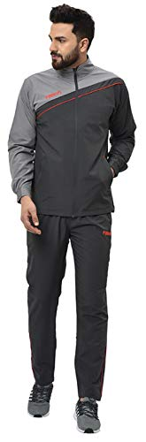 Fallyn Men's Polyester Regular Fit Track Suit for Men Sports Suits for Boys Stylish Trekking Suit Running Suit Warm for Body (Dark Grey_Small)