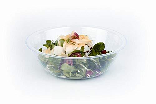 Traducción & Cacerola Plato de ensalada azul hielo - transparente, Ø ca. 40cm, Höhe 12cm