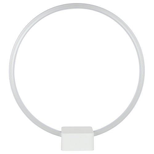Brightech – circle led table & desk lamp – bright orb of light with built-in dimmer brings sci-fi ambiance to contemporary spaces – 12 watts – white color