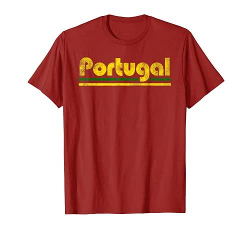 2020 Portogallo Fan Retro Vintage Flag T-Shirt Maglietta