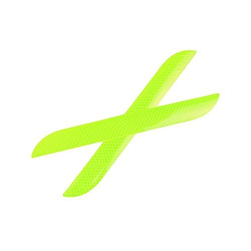 HEIRAO Fahrzeugsicherheit Reflektierende Aufkleber Warnaufkleber Hintere Leiste Reflektierende Streifen Nacht Hohe Sichtbarkeit Sicherheit 2 Stück