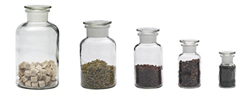 Frasco de farmacia (redondo, 50ml, transparente), vidrio, 100 ml