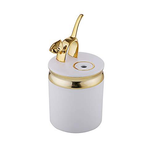Humidificador Regalos creativos Nuevo Humidificador de Gatos Lindos LED LED Colorido Night Light Mist Maker para el hogar USB 180 ml Difusor Apagado automático Ambientador Casa (Color : Golden)