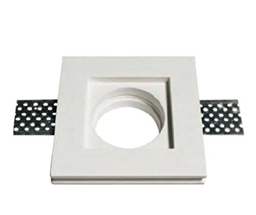 Lot de 10 supports carrés encastrables en plâtre pour spots GU10 et GU5.3 mod. 0042