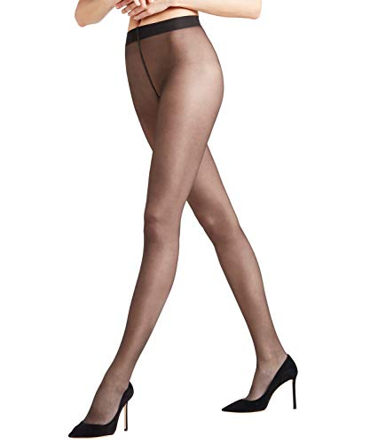 FALKE Damen Strumpfhosen Seidenglatt 15 Denier - Transparente, Leicht Glänzend, 1 Stück, Schwarz (Black 3009), Größe: M