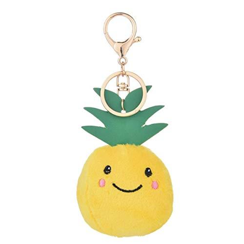 Ananas-Form-plüsch-Rucksack-Puppen Schlüsselanhänger Spaß-neuheit-handtaschen-anhänger Auto-schmuck-Dekorationen