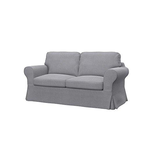 Soferia - IKEA EKTORP Funda para sofá Cama de 2 plazas, Elegance Light Grey