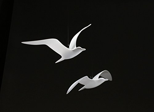 Seagull Duo Mobile Sculpture for Outdoors by John Perry16 inch wingspan