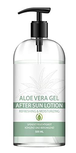 NEU: SaintNutrition AFTER SUN - ALOE VERA GEL für alle Hauttypen geeignet mit extra viel Feuchtigkeit, 500 ML