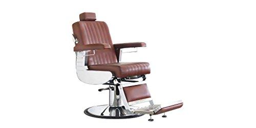 Comair 7001133 diploma professionele heren kappersstoel in modern retro design cognac, bruin