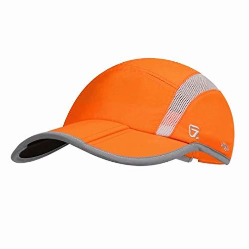 Gorra de béisbol de nailon para correr al aire última intervensión, ajustable, de secado rápido, reflectante, plegable, 40 + UPF inhibe la malla UV, ligera, repelencia al agua,...
