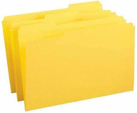 Yellow Colored File A surprise price is realized Folders with 8.50