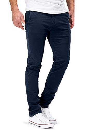 DSTROYED ® Chino Herren Slim fit Chinohose Stretch Designer Hose Neu 505 (33-32, 505 Dunkelblau)