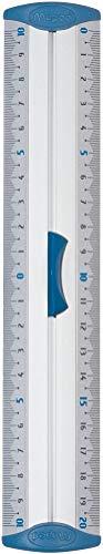 Maped - Double Décimètre Aluminium - Règle Plate 20 cm - Règle de Traçage en métal - Embouts Anti-Bruit - Préhension Ergonomique - Double Graduation avec Zéro Centré
