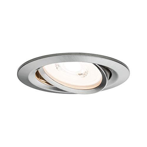 Paulmann 93944 Einbauleuchte LED Reflector Coin flache Einbaustrahler 3x6,8W Deckenspot Eisen dimmbar und schwenkbar Akzentbeleuchtung
