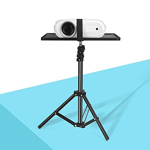 Projektor-Stativ, Beamer Ständer mit Verstellbar 46–110 cm(18'' bis 44''), OUSMIN Stabiler Aluminium-Projektorständer, Einziehbare Projektorunterstützung Compatibel für Projektor Laptop Lautsprecher