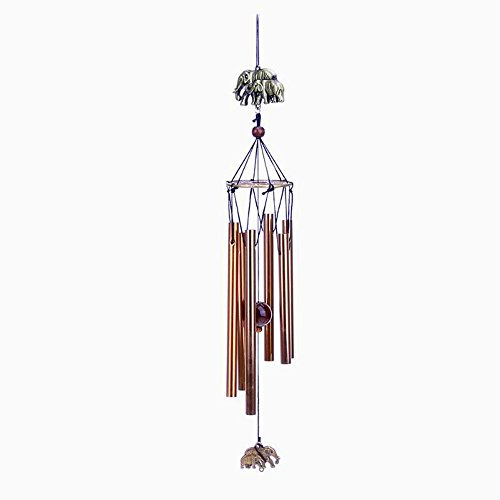 Yizunnu Multi-Tube Metall Wind Chimes Indoor Outdoor Garten Dekoration , Verziert mit Elefant