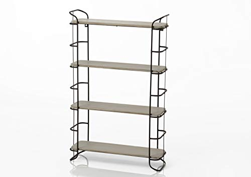 Amadeus - Étagère métal/bois 4 niveaux