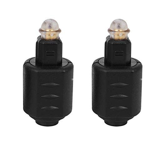 TOOGOO 2 Paquetes Mini Enchufe de Jack Hembra 3,5 mm óptico A Digital Toslink M Adaptador de Audio