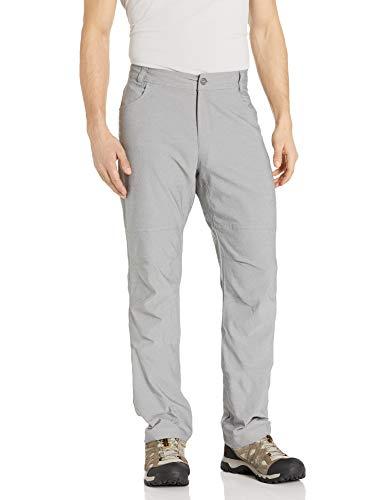 Columbia Pilsner Peak Pantalones para Hombre, Gris Ceniza, 36 x 30
