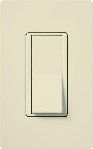 Lutron Claro On/Off Switch, 15-Amp, Single-Pole, CA-1PS-LA, Light Almond