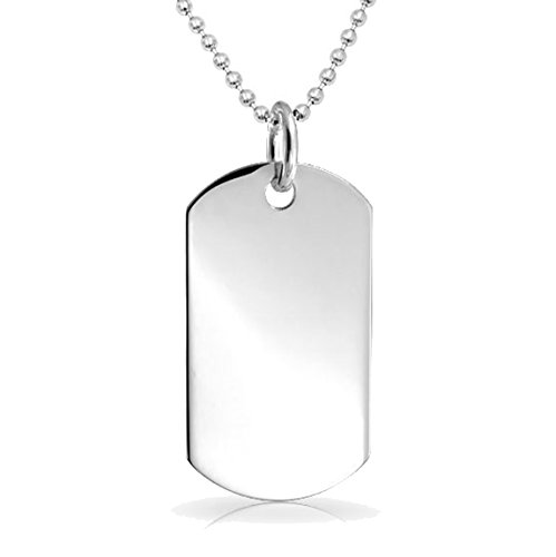 Free Engraving - Stainless Steel Dog Tag with 24' Bead Chain
