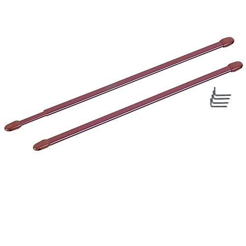 Mejores ventas - Barras de Cortinas, Extensible de 30 a 50 cm de Color marrón, 2 Piezas, Ganchos de Tornillo incluidos