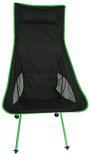WJXBoos Silla de camping plegable con cojín, sillas de exterior compactas y ligeras con respaldo alto y bolsa para viajes, picnic, pesca, festival (color: naranja)