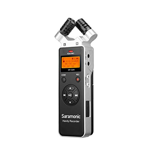 Saramonic SR-Q2M Metal Handheld Audio Recorder with Built-in X/Y Stereo Microphone, 8GB Card LCD Display