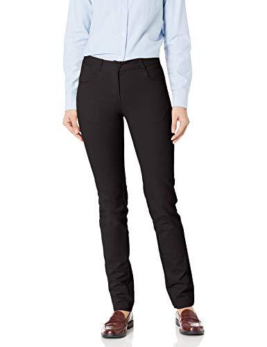 IZOD Junior's Uniform Stretch Twill Skinny Pant, Black, 1
