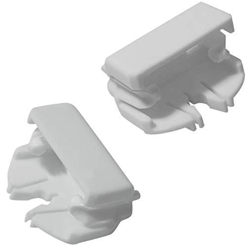 SPARES2GO Bakre löpare lådstopp för hotpoint diskmaskin (paket med 2)