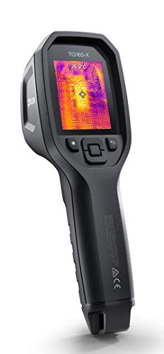 FLIR TG165-X Thermal Camera imaging tool for temperature anomalies, with Bullseye laser, 50,000 image storage and rechargeable Li-ion Battery