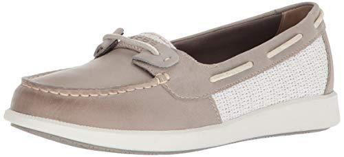Sperry Women's Oasis Loft Boat Shoe, Grey Weave, 8 Medium US