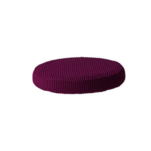 VOSAREA cuscino per sgabello da bar rotondo elastico sedile elasticizzato custodia protettiva fodera per sedia rimovibile per ufficio festa in hotel (viola scuro 30-38 cm di diametro)