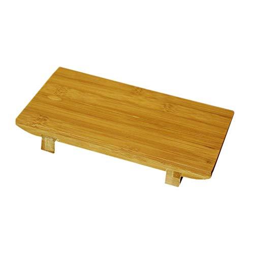 D-Park Hölzerner Behälter-Tisch, rechteckige japanische und koreanische Küche-Geschirr-Servierplatte-Bambussushi-Brett-Sushi-Plattform, die Sashimi kocht