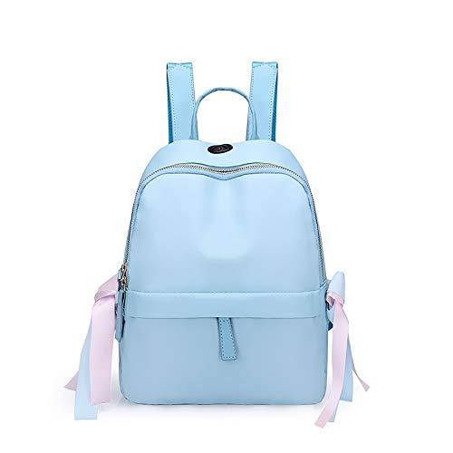 Alvnd Damesrugzak, handtas, mooie rugzak, waterdichte Oxford-doek, anti-diefstal-rugzak, lichte schoudertas 28 * 13 * 23cm blauw